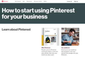 start your business Pinterest page